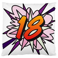 Comic Book 18 Pink Large Cushion Cases (One Side)