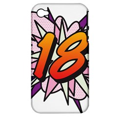 Comic Book 18 Pink Apple iPhone 4/4S Hardshell Case (PC+Silicone)