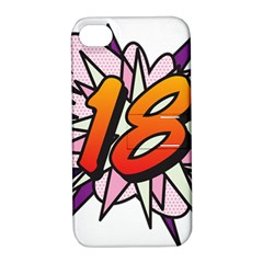 Comic Book 18 Pink Apple iPhone 4/4S Hardshell Case with Stand