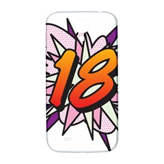 Comic Book 18 Pink Samsung Galaxy S4 I9500/I9505  Hardshell Back Case