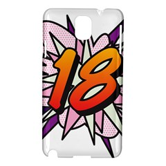 Comic Book 18 Pink Samsung Galaxy Note 3 N9005 Hardshell Case