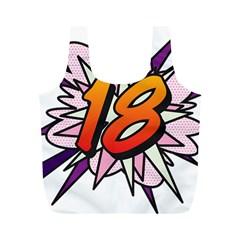 Comic Book 18 Pink Full Print Recycle Bags (M)