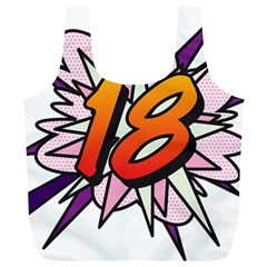 Comic Book 18 Pink Full Print Recycle Bags (L)
