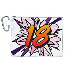 Comic Book 18 Pink Canvas Cosmetic Bag (XL)