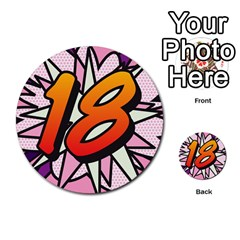 Comic Book 18 Pink Multi-purpose Cards (Round)