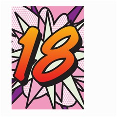 Comic Book 18 Pink Large Garden Flag (Two Sides)