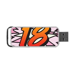 Comic Book 18 Pink Portable USB Flash (One Side)