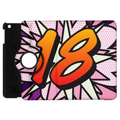 Comic Book 18 Pink Apple iPad Mini Flip 360 Case