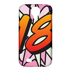 Comic Book 18 Pink Samsung Galaxy S4 Classic Hardshell Case (PC+Silicone)