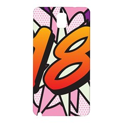 Comic Book 18 Pink Samsung Galaxy Note 3 N9005 Hardshell Back Case