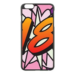 Comic Book 18 Pink Apple iPhone 6 Plus/6S Plus Black Enamel Case