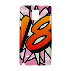 Comic Book 18 Pink Samsung Galaxy Note 4 Hardshell Case