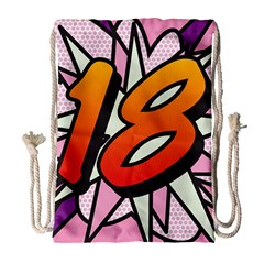 Comic Book 18 Pink Drawstring Bag (Large)