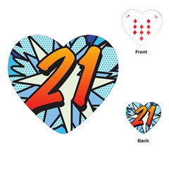 Comic Book 21 Blue Playing Cards (Heart)