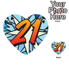 Comic Book 21 Blue Playing Cards 54 (Heart)