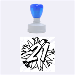 Comic Book 21 Blue Rubber Round Stamps (Medium)