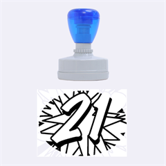 Comic Book 21 Blue Rubber Oval Stamps
