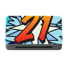 Comic Book 21 Blue Memory Card Reader with CF