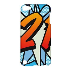 Comic Book 21 Blue Apple iPod Touch 5 Hardshell Case