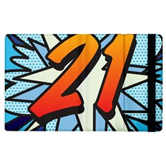Comic Book 21 Blue Apple iPad 2 Flip Case