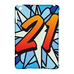 Comic Book 21 Blue Apple iPad Mini Hardshell Case (Compatible with Smart Cover)