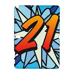 Comic Book 21 Blue Samsung Galaxy Note 10.1 (P600) Hardshell Case