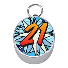 Comic Book 21 Blue Mini Silver Compasses