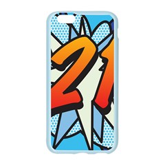 Comic Book 21 Blue Apple Seamless iPhone 6/6S Case (Color)