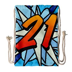 Comic Book 21 Blue Drawstring Bag (Large)