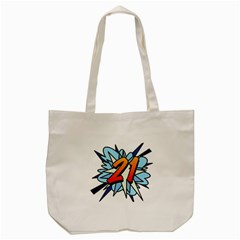 Comic Book 21 Blue Tote Bag (Cream)