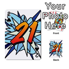 Comic Book 21 Blue Playing Cards 54 Designs