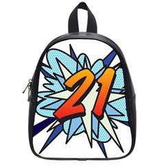 Comic Book 21 Blue School Bags (Small)