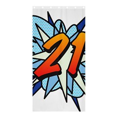Comic Book 21 Blue Shower Curtain 36  X 72  (stall)