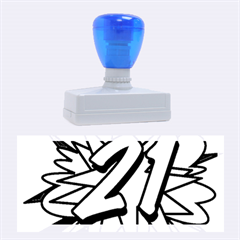 Comic Book 21 Blue Rubber Stamps (Large)
