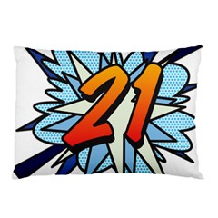 Comic Book 21 Blue Pillow Cases (Two Sides)