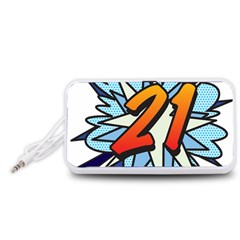 Comic Book 21 Blue Portable Speaker (White)