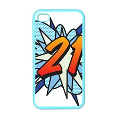 Comic Book 21 Blue Apple iPhone 4 Case (Color)