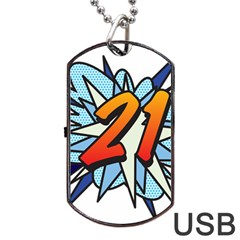 Comic Book 21 Blue Dog Tag USB Flash (Two Sides)