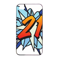 Comic Book 21 Blue Apple Iphone 4/4s Seamless Case (black)