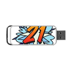 Comic Book 21 Blue Portable USB Flash (Two Sides)