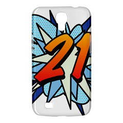 Comic Book 21 Blue Samsung Galaxy Mega 6.3  I9200 Hardshell Case