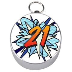 Comic Book 21 Blue Silver Compasses