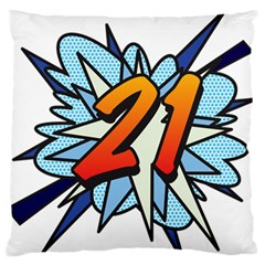 Comic Book 21 Blue Standard Flano Cushion Cases (Two Sides)