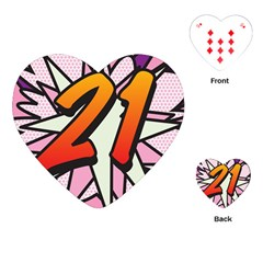 Comic Book 21 Pink Playing Cards (Heart)