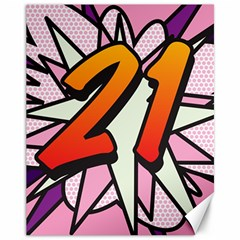 Comic Book 21 Pink Canvas 11  x 14