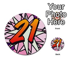 Comic Book 21 Pink Multi-purpose Cards (Round)