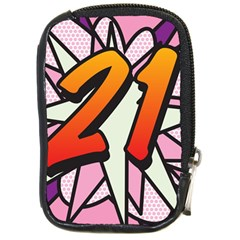 Comic Book 21 Pink Compact Camera Cases