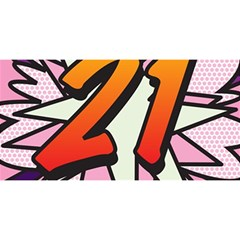 Comic Book 21 Pink You Are Invited 3d Greeting Card (8x4)