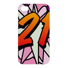 Comic Book 21 Pink Apple iPhone 4/4S Premium Hardshell Case