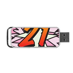 Comic Book 21 Pink Portable USB Flash (One Side)